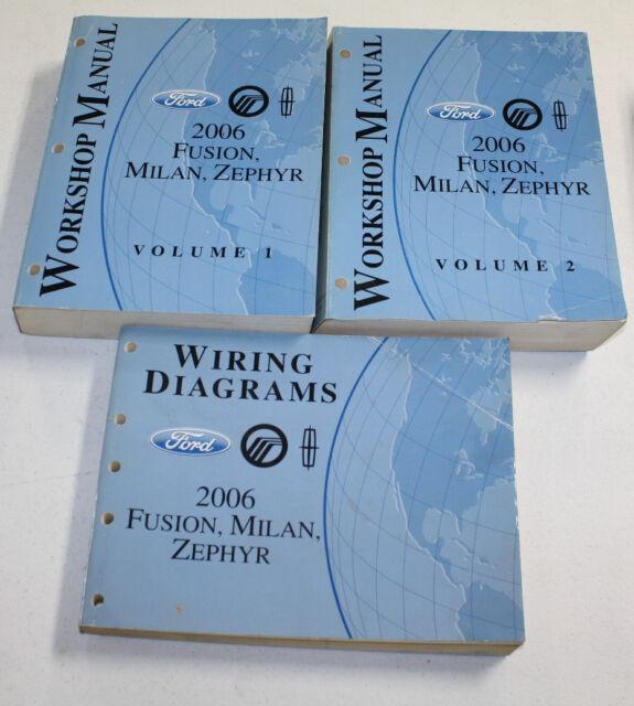 2006 Ford Fusion  Milan  Zephyr Manual  U0026 Wiring Diagram