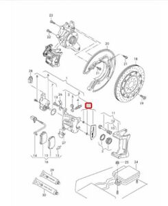 New-Genuine-AUDI-A6-A7-A8-RS6-RS7-ceramique-etrier-De-Frein-Plaque-Logo-4H0698221