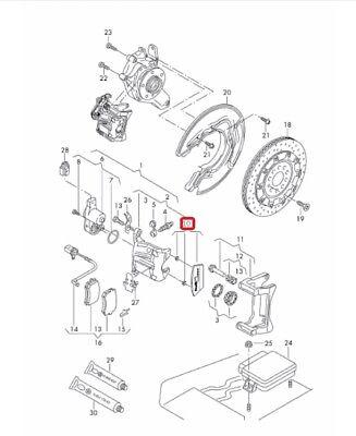 For 2012-2018 Audi A7 Quattro Caliper Repair Kit Rear 22185ZM 2013 2014 2015