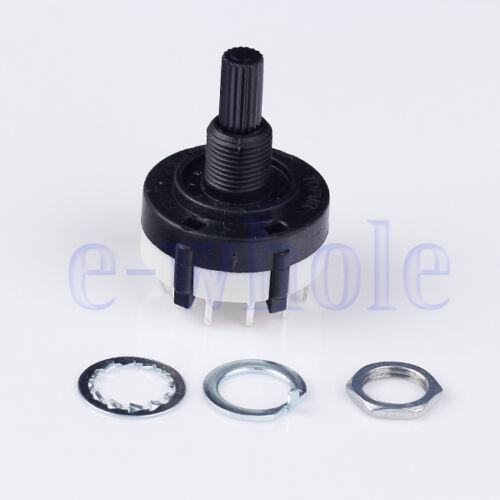 2x2 Pole 6 Position PANEL PCB câblage Interrupteur rotatif 2P6T HM