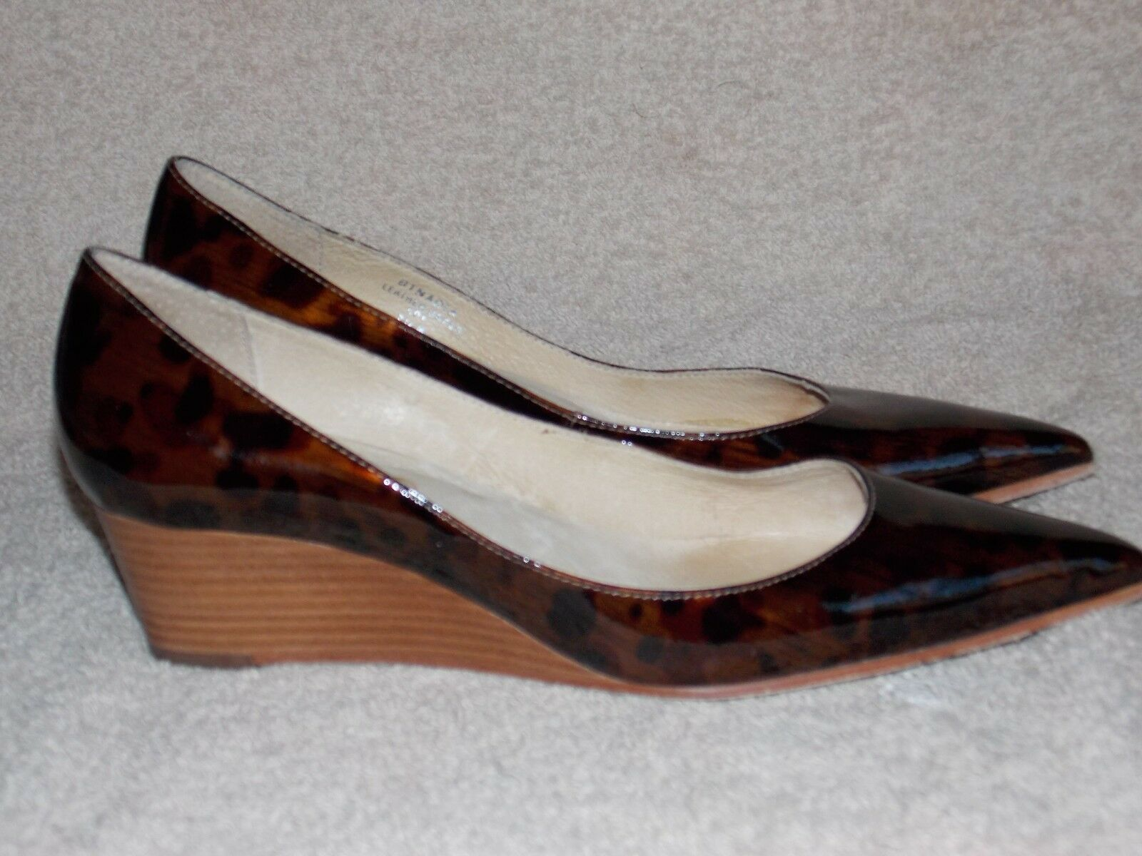 Boutique 58 NADIA Leapord Wedge Pumps chaussures 7.5M For femmes Used