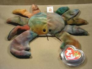 1996 TY Beanie Baby CLAUDE The Crab With 11 Errors Extremely Rare!