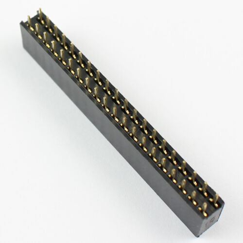 50Pcs Pitch 2.54mm 2x20 Pin Female Double Row Straight Pin Header Strip