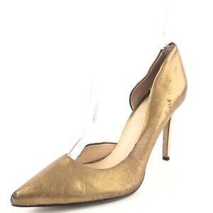 e939fc4fa364 Jessica Simpson Claudette Gold Leather D Orsay Pumps Heels Women s ...