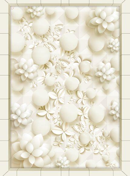 3D Boulette 4 Fond d'écran étage Peint en Autocollant Murale Plafond Chambre Art