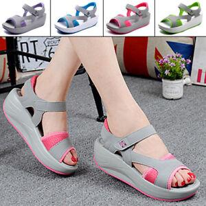 Summer-Women-Sports-Sandals-Open-Toe-Wedge-Platform-Sandal-Shoes-Size-US-6-5-9
