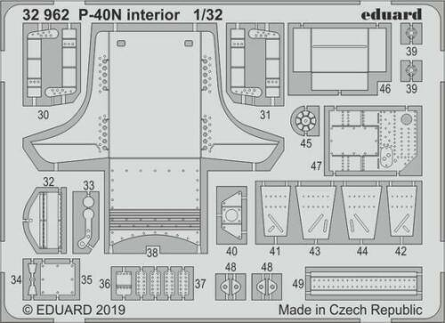 Eduard 1//32 Curtiss P-40N KITTYHAWK Intérieur # 32962