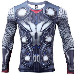 79a97e0f3d0 A imagem está carregando Ragnarok-Thor-Os-Vingadores-Camisa -de-Compressao-Academia-