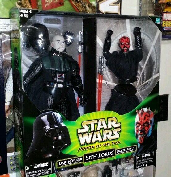 Star Wars Power of the Jedi SITH LORDS Darth Vader & Darth Maul 12  Figure Set