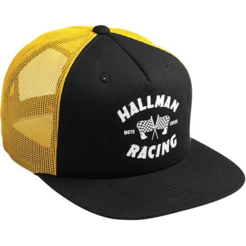 Thor Hallman Finish Line Snapback Base Cap Mütze schwarz//gelb für Motocross Fans