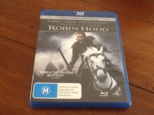 1 of 1 - Robin Hood - Blu-ray Region B 2010 Epic 2 Disc Set Ridley Scott Russell Crowe