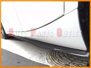DP Type Carbon Side Skirt Lip For 14-18 Lexus IS250 IS300h IS350 w// F-Sport