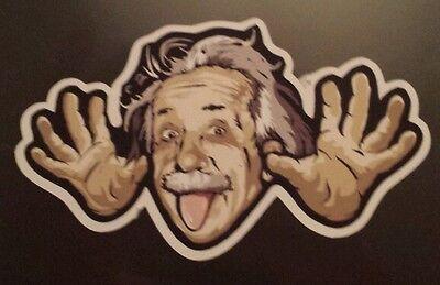 Einstein funny Sticker laptop guitar 106