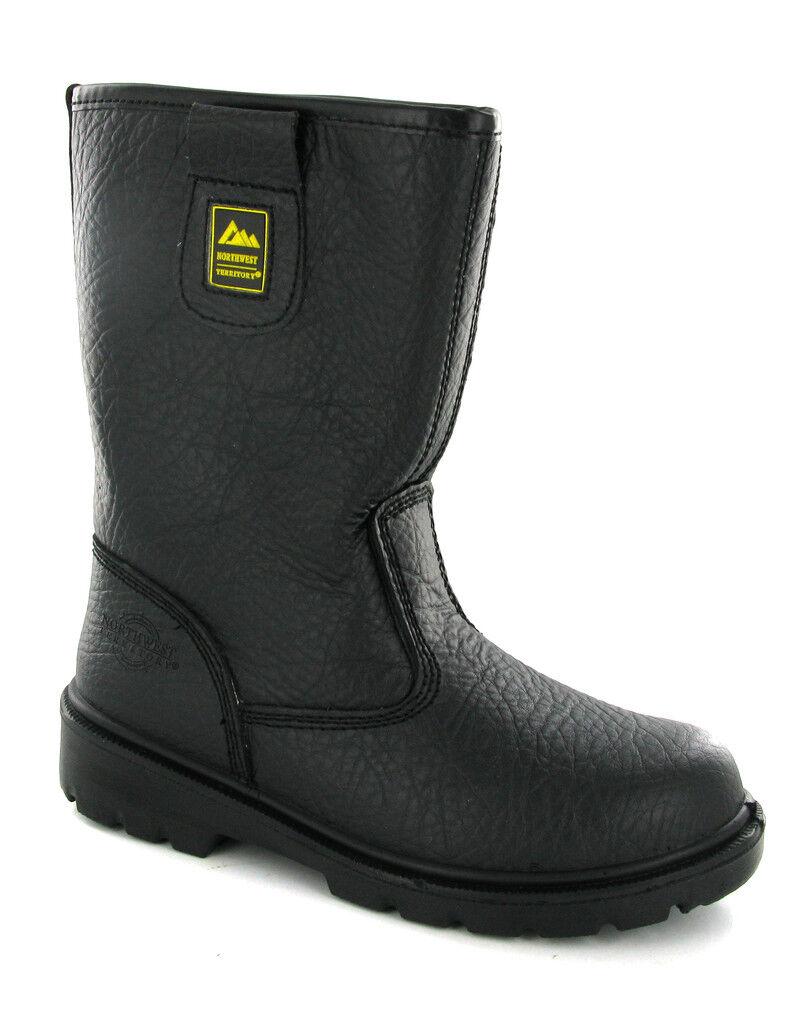 Punta in Acciaio, Sicurezza black Stivali da Lavgold men UK4-13