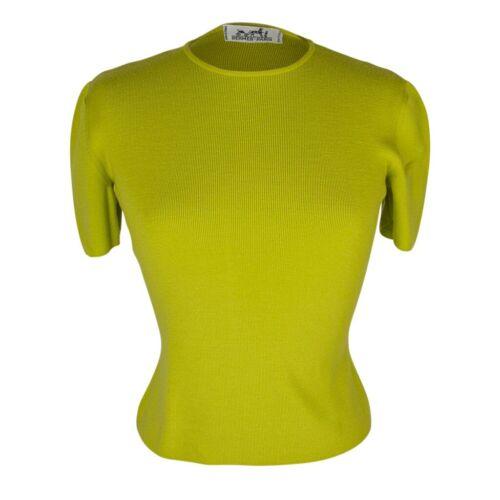 Hermes Top Vintage Chartreuse Wool fits S