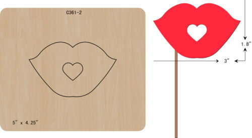 New Card lips Wooden die Scrapbooking Cutting Dies C-361-2