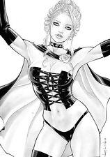 Black Queen by Rubismar da Costa Original Comic Art Drawing Cyclops X-Men 11x17