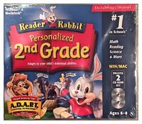 Reader Rabbit Personalized 2nd Grade (pc) Brand Sealed - 2 Cds - Nice