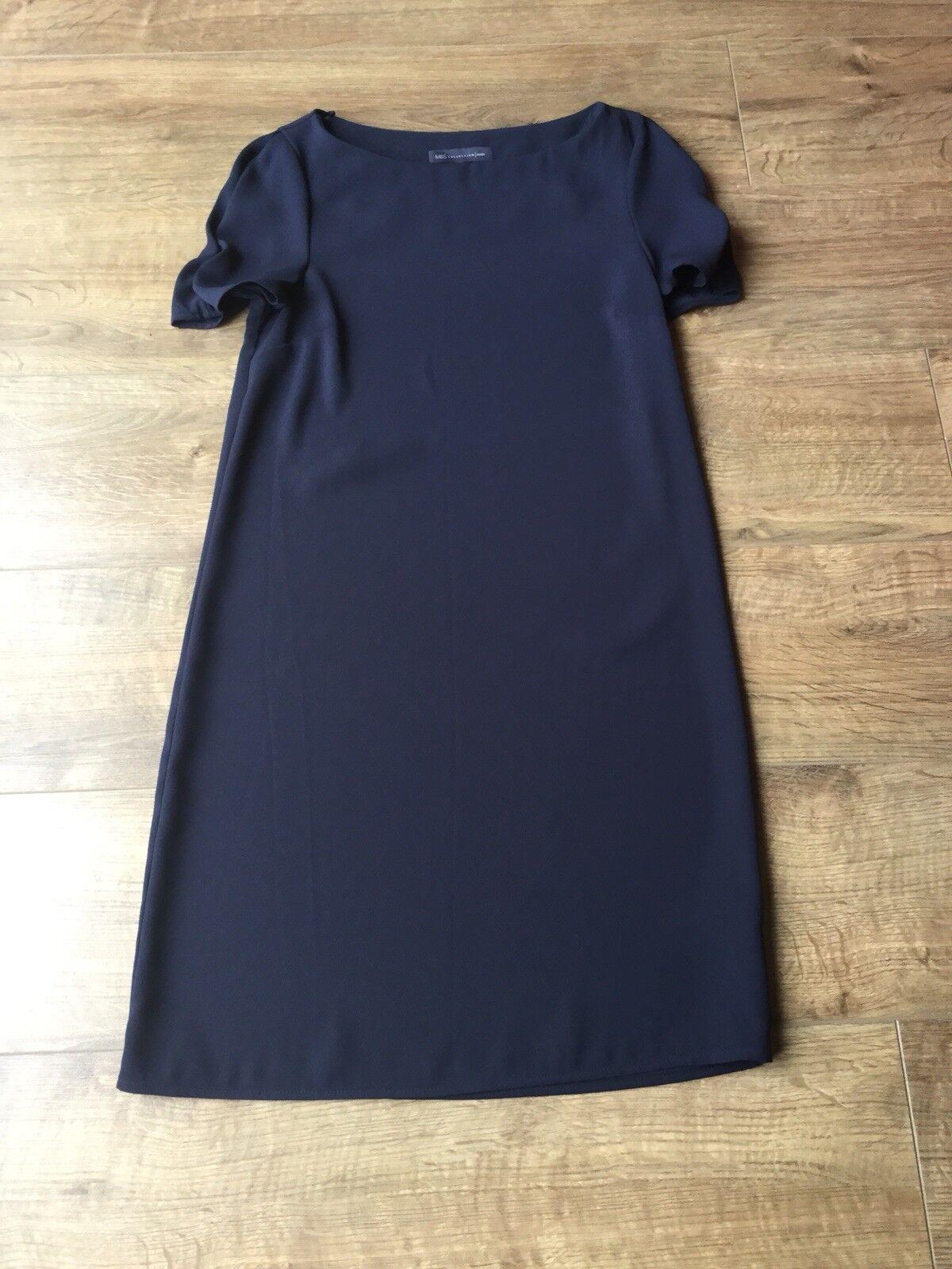 BNWOT Ladies M&S Collection Navy Dress - Größe UK 6 Petite