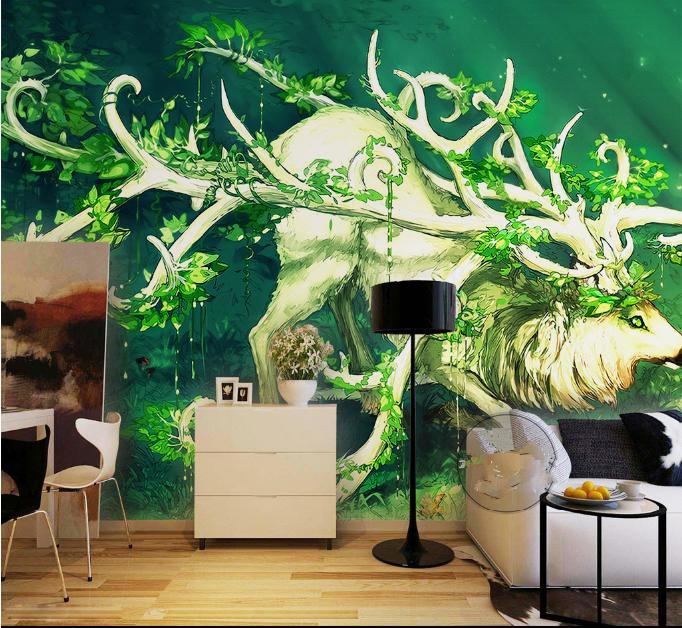 3D 3D 3D Antilopen Und Enten 72 Tapete Wandgemälde Tapete Tapeten Bild Familie DE   Flagship-Store    Elegantes Aussehen    Lebendige Form  6625a9