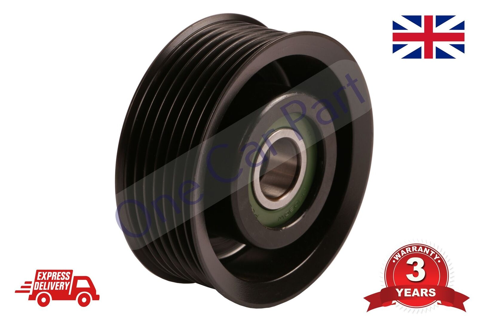 Guide Pulley V-Ribbed Belt Fits TOYOTA Auris Avensis Corolla Mr Saloon 1999