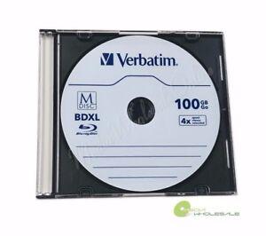 Details about M DISC VERBATIM BDXL 100GB 4X Branded Logo 10 pk Disc - Jewel  Case