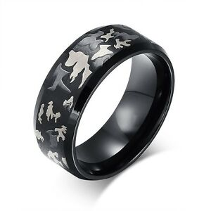 14 mens titanium steel soldier camo ring camouflage ring wedding ring