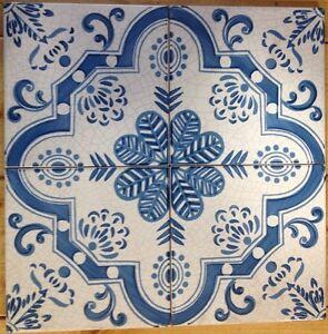 Vietri piastrelle 20x20 decorate a mano riproduzione - Piastrelle in maiolica ...
