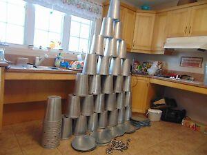 3 maple syrup aluminium sap bukets lids covers +taps spiles #17