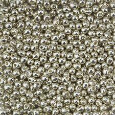 Miyuki Drops Glass Seed Beads Galvanized Silver 3.4mm 25 gram Tube (D93/2)