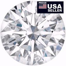 Round Moissanite white E-F,1 to 5 Carat, 100% Genuine, Loose Moissanite diamond