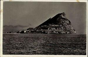 Gibraltar-Vintage-Postcard-alte-AK-1940-Blick-auf-den-Felsen-von-Gibraltar