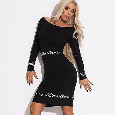 By Alina Damenkleid Minikleid Longpullover Bodycon-Kleid Party Longshirt XS-M