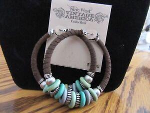 Vintage Rings Brown Greens Silvertone