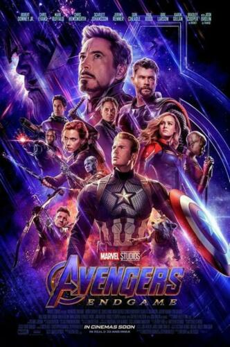 "Avengers 4 End Game Movie Poster 2019 Marvel Film Art Print 24x36/""//60x90cm"