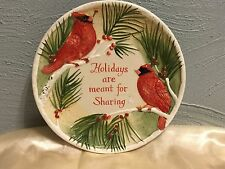 Fitz and Floyd Holidays are Meant for Sharing Cookie Platter Plate Cardinal Holy
