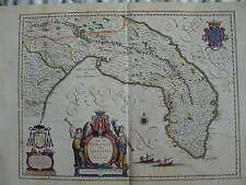 MAPPA TERRA DI OTRANTO 1640 PUGLIA TARANTO BRINDISI LECCE OSTUNI GALLIPOLI