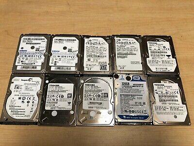 "Lot of 10 Mixed Seagate WD Toshiba Samsung 120GB 2.5/"" SATA Laptop Hard Drive"