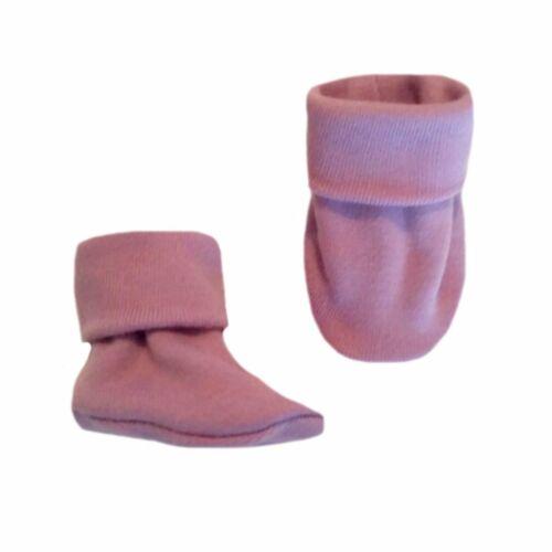 5 Preemie and Newborn Sizes Unisex Baby Lavender Booties Crib Shoe Socks