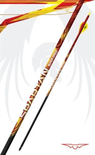 2018 Black Eagle SPARTAN Arrows  350 spine .003 Fletched BLAZER Vanes 1 /& 1//2 DZ