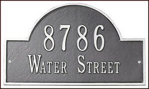 Whitehall DeSign It Self-Numbered Personalized Quick Ship ARCH Address Marker