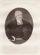 JOHN KAY Original Antique Etching. Rev. Dr. John Colquhoun, Of the..., 1793