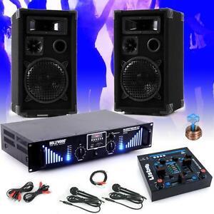 2400-Watt-PA-Karaoke-Party-Musik-Anlage-Boxen-USB-MP3-Verstaerker-Mixer-Mikrofone