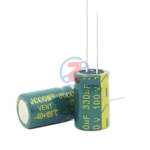 10PCS 100V 330uF High Frequency Electrolytic Capacitor LOW ESR 105C 13x21mm