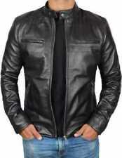 Men's 100% Real Lambskin Leather Stylish Motorbike Jacket Fashion Jackets