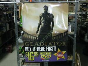GLADIATOR-Original-Blockbuster-Movie-Store-2-Piece-Display-Poster-Maximus-Crowe