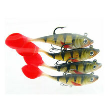 3 colors wobblers rubber silicon lure 5pcs Fishing lures sea fishing tackle 5pcs