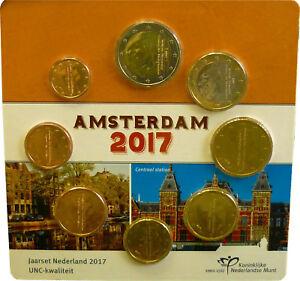 3-88-Euro-Niederlande-KMS-Kursmuenzensatz-Kursmuenzsatz-bfr-vz-2017-Amsterdam