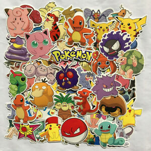 80pc-POKEMON-GO-Pikachu-Cartoon-Stickers-Skateboard-Laptop-Sticker-Luggage-Decal
