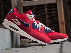 Details about 2018 Nike Air Max 90 Chenille Swoosh SZ 8 University Red Purple 858954 600